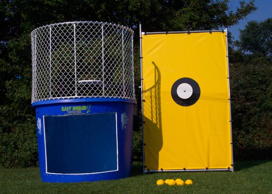 Dunk tank the concept of dunking the boss at the company picnic or